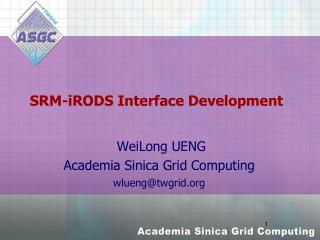 SRM- iRODS  Interface Development