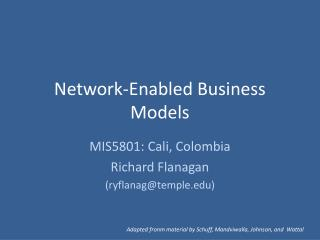 Network-Enabled Business Models
