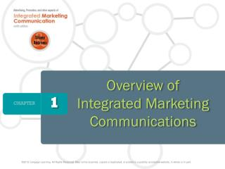 Overview of  Integrated Marketing Communications