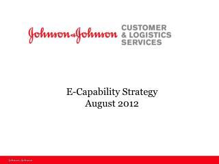 E-Capability Strategy  August 2012