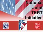 national joint  tert initiative