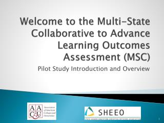 Welcome to the Multi-State Collaborative to Advance Learning Outcomes Assessment (MSC)