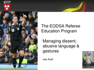 The EODSA Referee Education Program