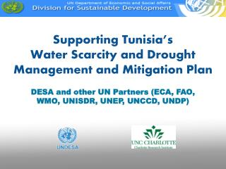 Supporting Tunisia's Water Scarcity and Drought Management and Mitigation Plan