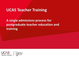 UCAS Teacher Training