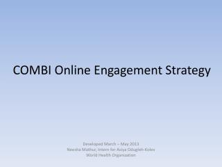 COMBI Online Engagement Strategy