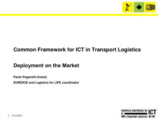 Common Framework for ICT in Transport Logistics