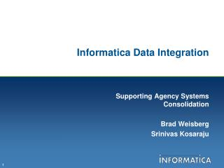 Informatica Data Integration
