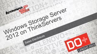 Windows Storage Server 2012 on ThinkServers