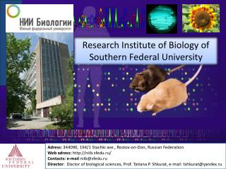 Research Institute of Biology of Southern Federal University