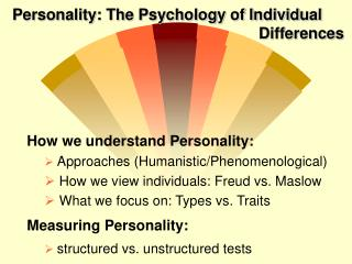 personality: the psychology of individual differences