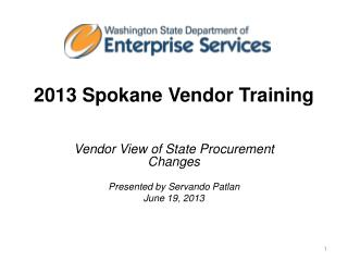 2013 Spokane Vendor Training
