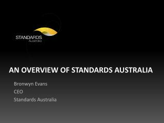 An Overview of Standards Australia