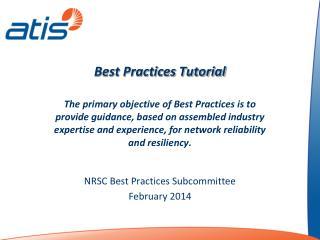 Best Practices Tutorial