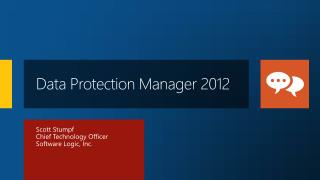 Data Protection Manager 2012
