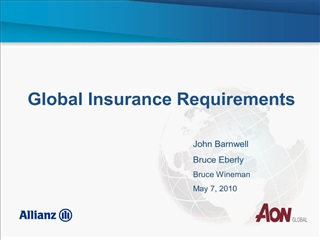 global insurance requirements