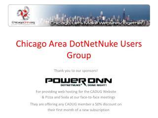 Chicago Area DotNetNuke Users Group