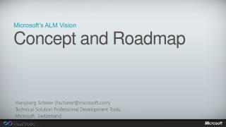 Microsoft's ALM Vision