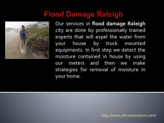 Flood Damage Raleigh