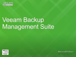 Veeam Backup Management Suite