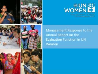 Management Response to the Annual Report on the Evaluation Function in UN Women