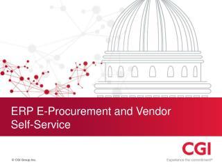 ERP E-Procurement and Vendor  Self-Service