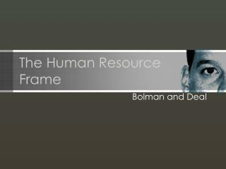 the human resource frame