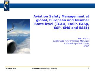 Safety Management at ICAO level