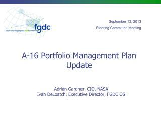 A-16 Portfolio Management Plan Update