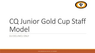 CQ Junior Gold Cup Staff Model