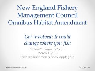 New England Fishery Management Council Omnibus Habitat Amendment Get involved: It could  change where you fish