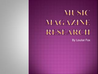 Music Magazine Research