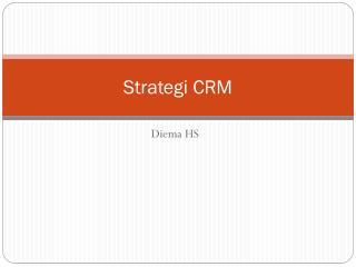 Strategi CRM