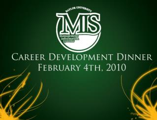 MIS Career Development Dinner