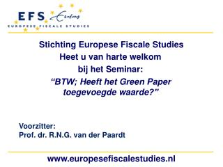 Stichting Europese Fiscale  Studies