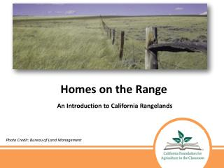 Homes on the Range