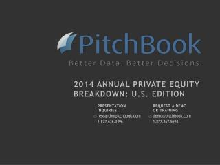 2014 Annual Private equity Breakdown: U.S. edition