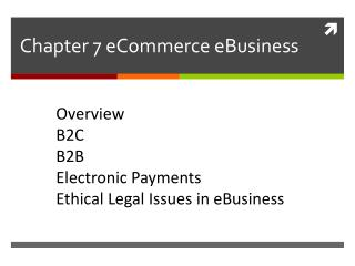 Chapter 7  eCommerce eBusiness