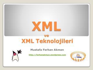 XML ve  XML Teknolojileri