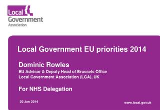 Local Government EU priorities 2014