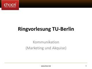 Ringvorlesung TU-Berlin
