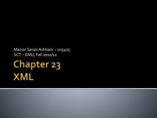 Chapter 23 XML