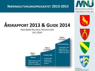 Årsrapport 2013 & Guide 2014 Hans Bjørn Paulsrud, Prosjektleder 26.1.2014
