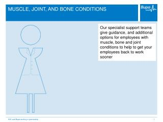 MUSCLE, JOINT, AND BONE CONDITIONS