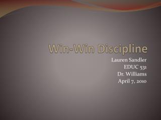 Win-Win Discipline