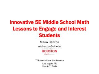 Innovative 5E Middle School Math Lessons to Engage and Interest Students
