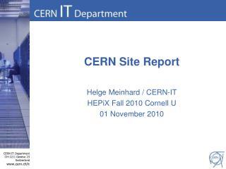 CERN  S ite  R eport