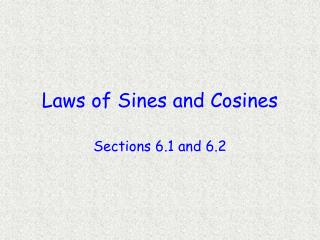 laws of sines and cosines