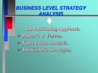 business level strategy analysis