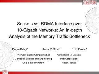 Sockets vs. RDMA Interface over 10-Gigabit Networks: An In-depth Analysis of the Memory Traffic Bottleneck